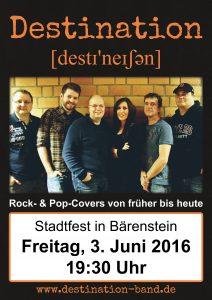 Plakat Destination Stadtfest Bärenstein